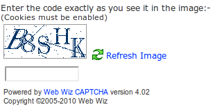 Web Wiz CAPTCHA
