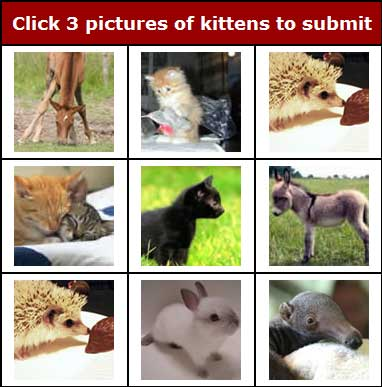 kittenAuth CAPTCHA