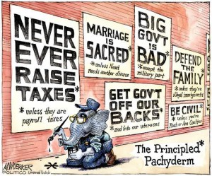 The Principled Pachyderm (from M. Wuerker)