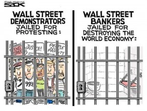 Wall Street - Demonstrators vs. Bankers