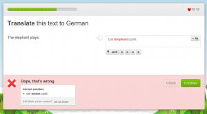 Duolingo analyses your errors.