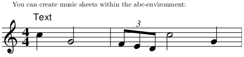ABC example for creating music sheets with LaTeX