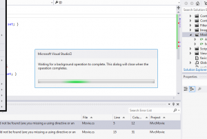Visual Studio 2012 - loading something without any action from my side