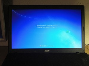 Windows 7: Automatic update installation