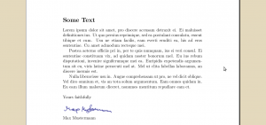 A signed document, created with LaTeX