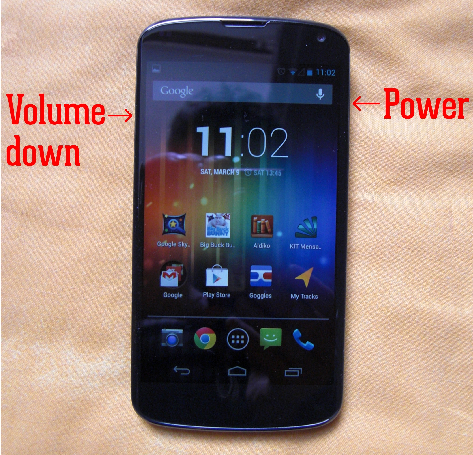 How to take a screenshot with Nexus 4
