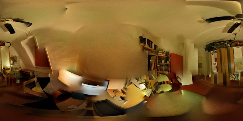 A sphere photo of my room