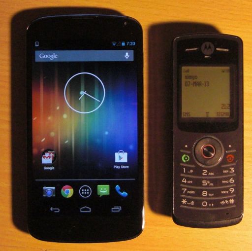 Nexus 4 and Motorola W156