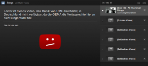 YouTube Video is not available in Germany because of GEMA