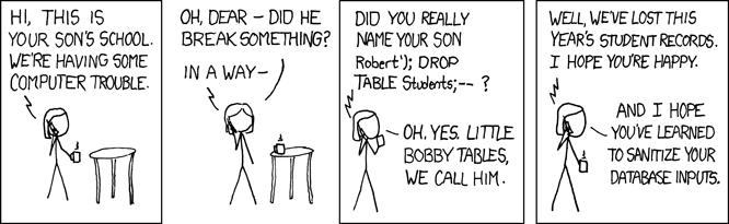 xkcd 327: Exploits of a mom