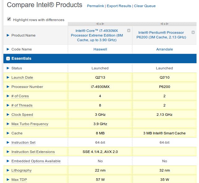 Intel Arc compare processors