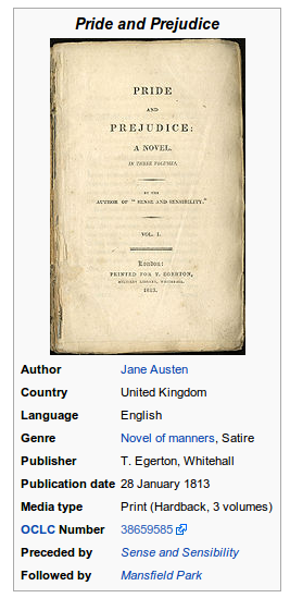 Pride and prejudice infobox