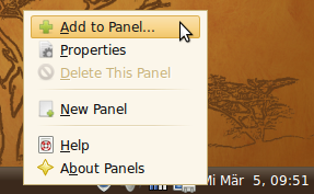 Add to panel