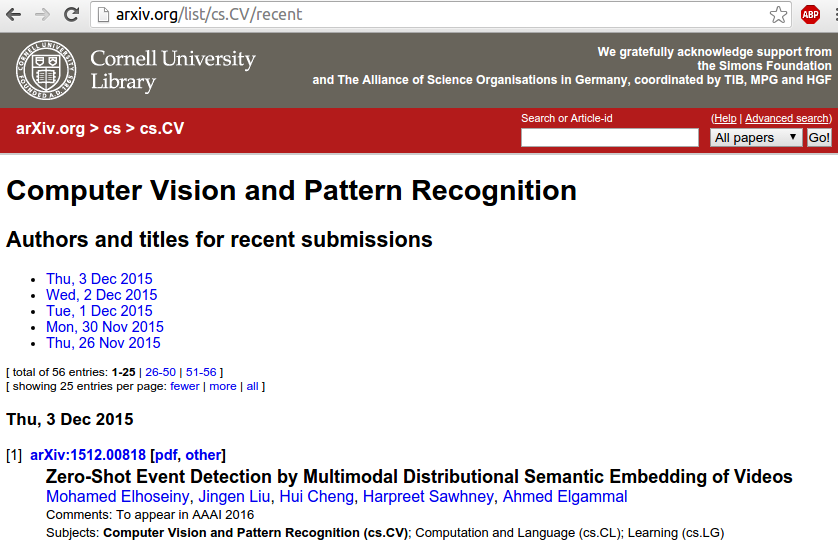 Latest submissions on arXiv in Pattern Recognition and Computer Vision