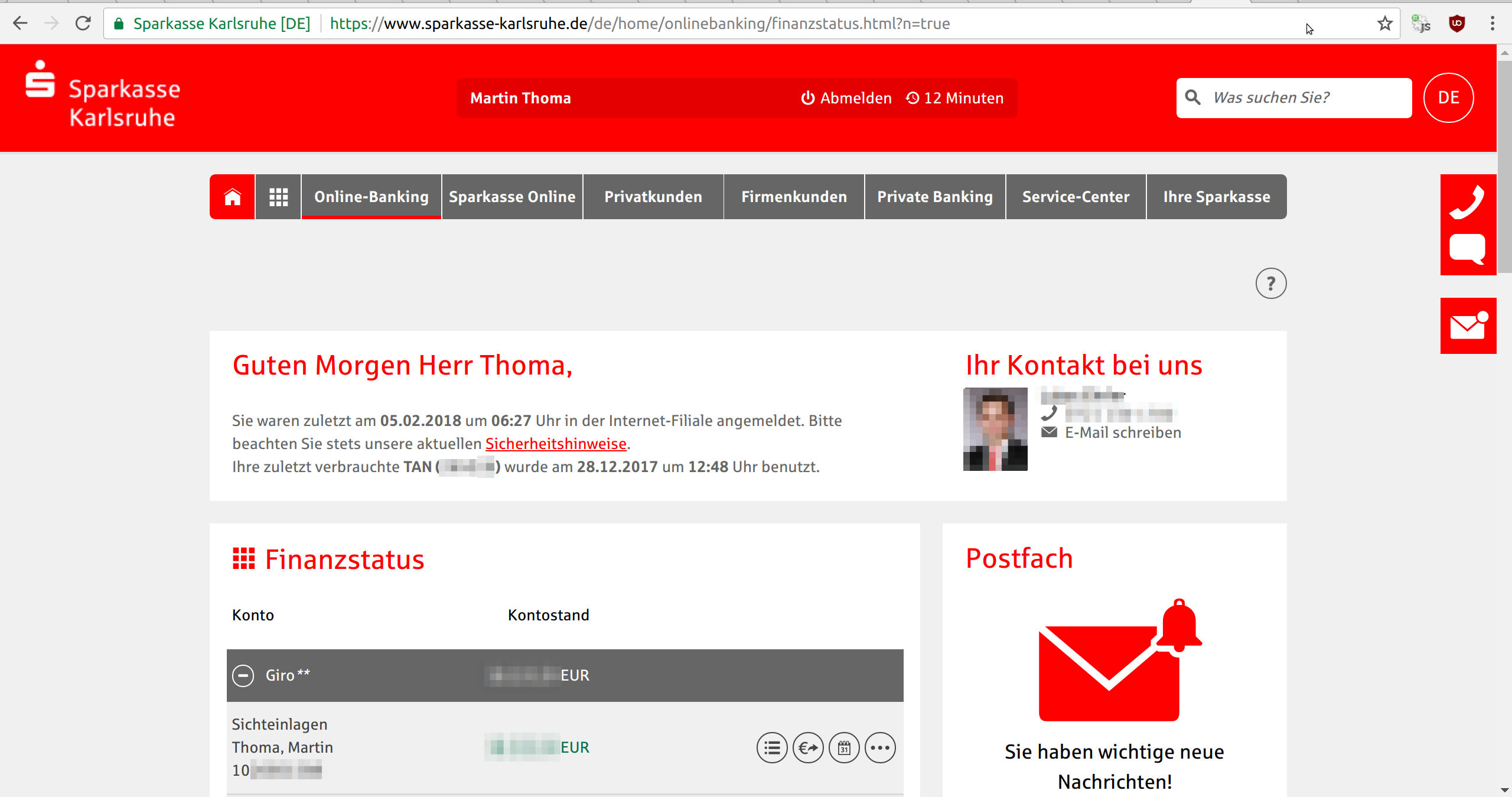 Online Banking Martin Thoma