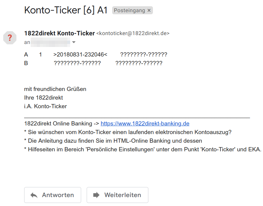1822direkt notification e-mail